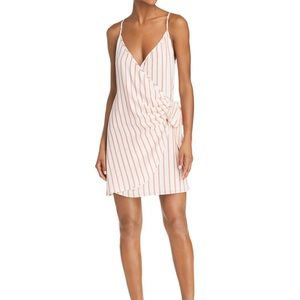 SAGE THE LABEL Aurelia Striped Mini Wrap Dress